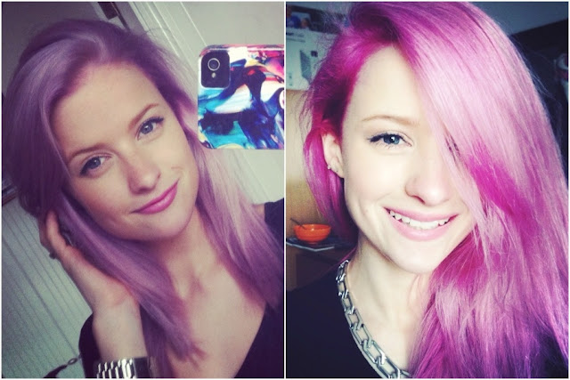 Lilac and Pink Hair