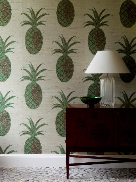 Greg Kinsellas Grasscloth Wallpaper