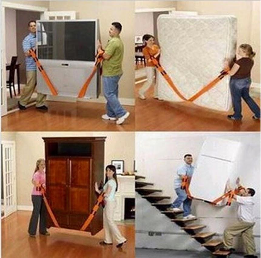 sangle de d m nagement levage courroie transport nylon meuble mouvement porteur ebay. Black Bedroom Furniture Sets. Home Design Ideas