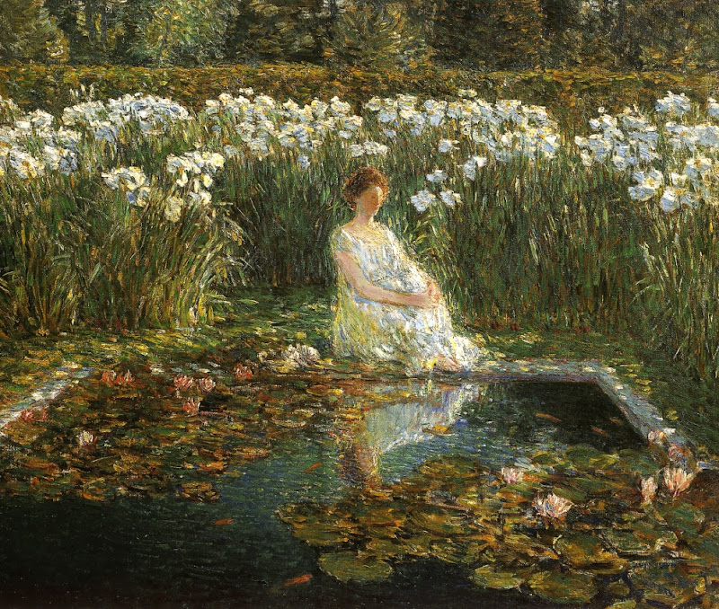 Childe Hassam - Lilies