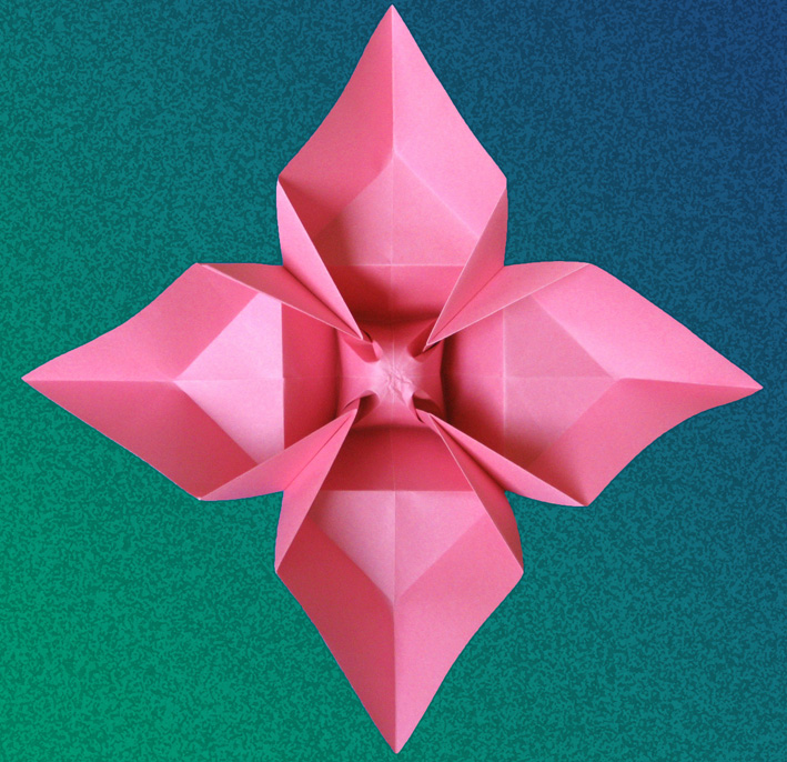 Origami foto Fiore a quattro petali - Flower with 4 petals by Francesco Guarnieri