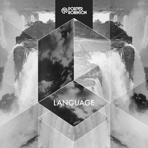 Porter Robinson - Language.png, black and white