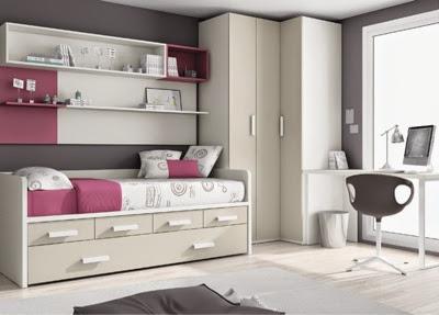 Dormitorio juvenil armario esquinero for Dormitorios juveniles con armario esquinero
