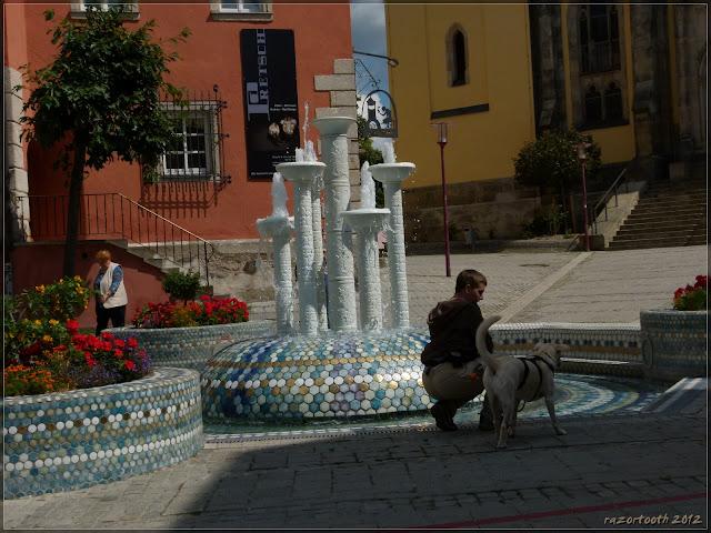 der Porzellanbrunnen in Selb