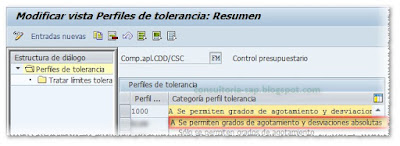Perfil de Tolerancia SAP FM