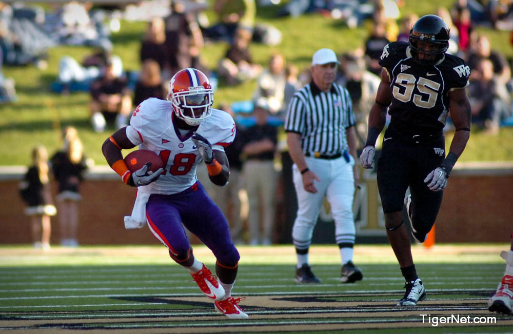 Clemson at Wake Forest Photos - 2010, Football, Jaron Brown, Wake Forest
