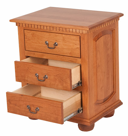 Valencia Nightstand with Drawers in Vintage Cherry