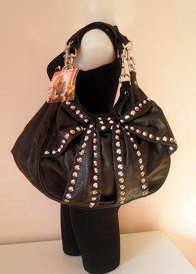 Betsey Johnson Handbag Dismal Leather Hobo Tote Studded Bows Amp Arrows