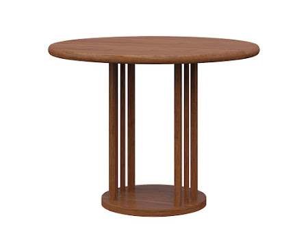 Round Urbana End Table in Itasca Maple
