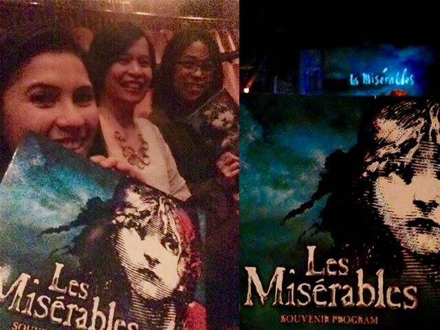 Les Miserables 2015 inside the theatre with the souvenir program