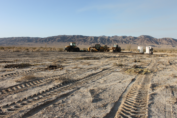 Desert destruction begins in Ocotillo