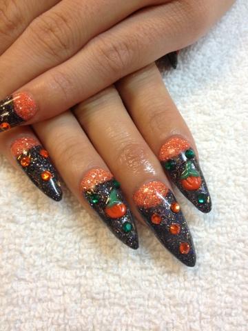 Nail Art Las Vegas: Halloween Stiletto Nails Las Vegas