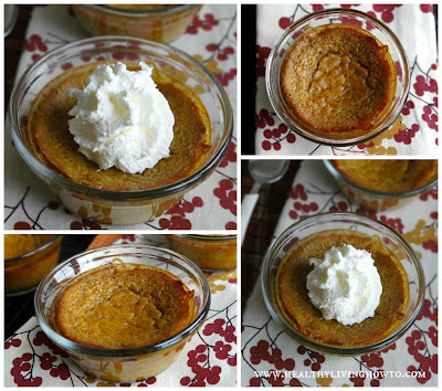 Easy Crust Less Mini Pumpkin Pies