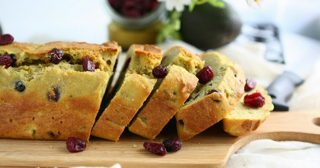 Spelt Barley Bread with Avocado and Cranberries
