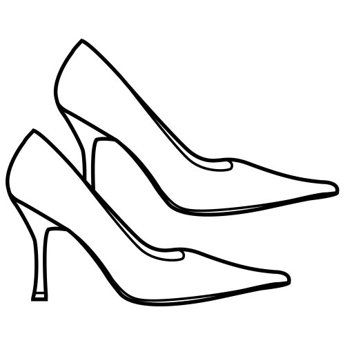 High heels, free coloring pages