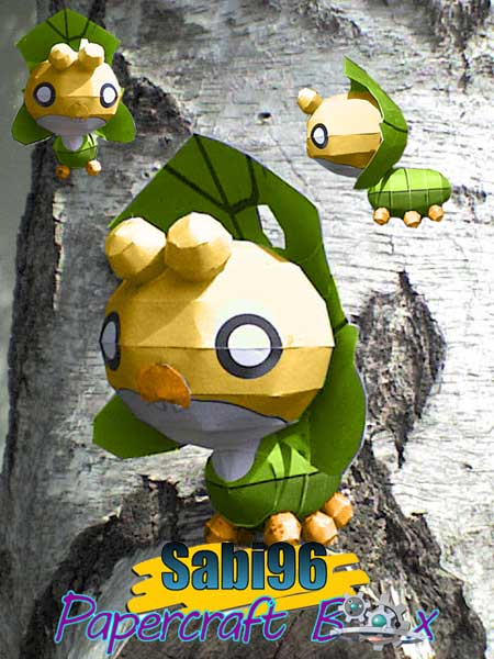 Pokemon Sewaddle Papercraft