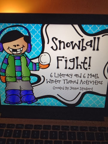 http://www.teacherspayteachers.com/Product/Snowball-Fight-6-Math-and-6-Literacy-Winter-Themed-Activities-968182