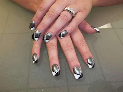 The Fascinating Black and white stiletto nail designs Digital Imagery