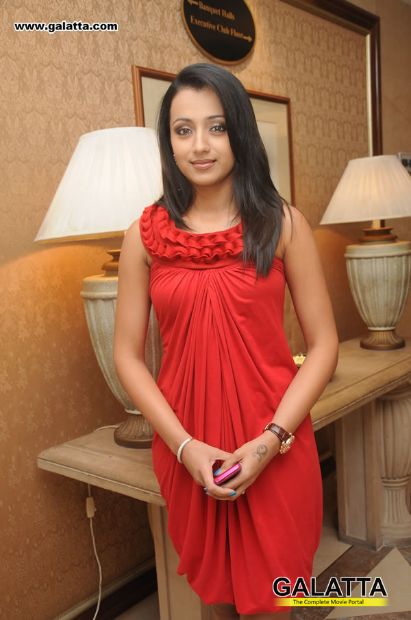 Trisha Hot And Cute Photo Stills In Red Dress At Launch Of -5587