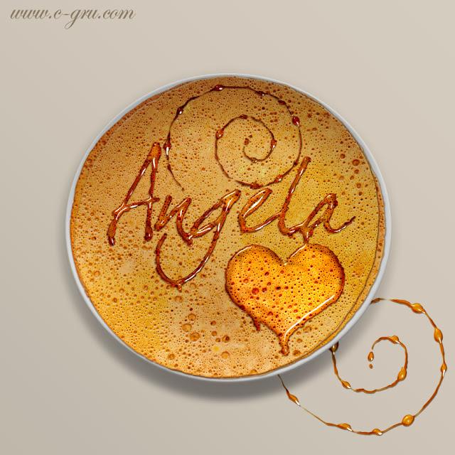 เทคนิคการทำตัวอักษรหยดน้ำผึ้ง (Honey Leaking Effect) AngelaPancake