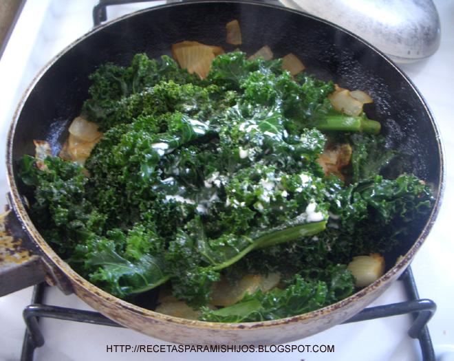Recetario spanglish para mis hijos guarnici n de ma z - Cocinar col kale ...