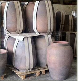 Extra large old ironstone pots and planters
