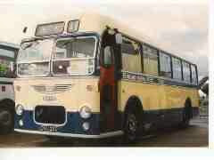 1960's cream and blue single decker bus