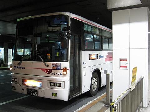 西日本鉄道 「とよのくに号」 スーパーノンストップ便 3424 西鉄天神BC到着
