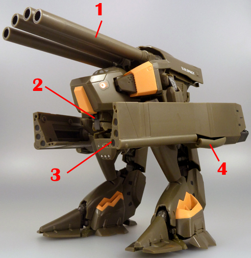 Macross VF-X2 Macross VF-X2 VB-6 Koenig Monster König Konig Armament weapon position