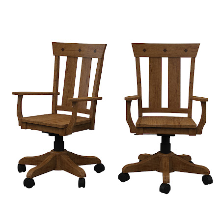 Monaco Office  Chair in Itasca Maple