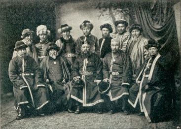 Kazakh chiefs. From  An Illustrated History of Kazakhstan: Asia's Heartland in Context