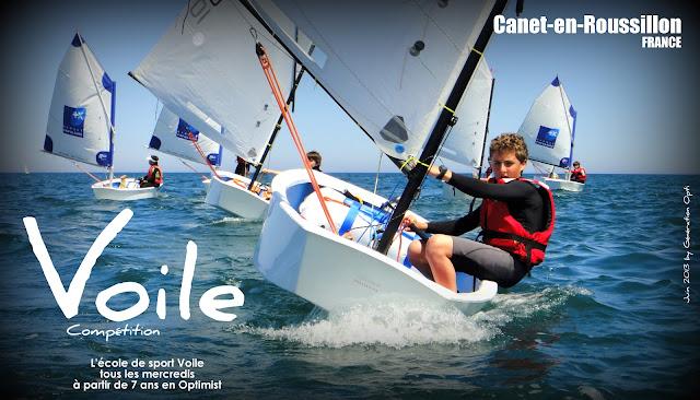 Optimist Voile Canet-en-Roussillon a_partir_de_7_ans