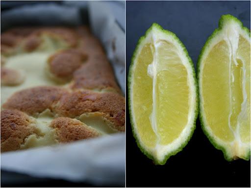 Sernikoblondies z limonkową nutą