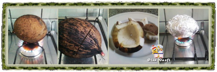 Quebrando coco maduro