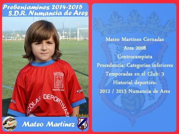 ADR Numancia de Ares. MATEO MARTINEZ