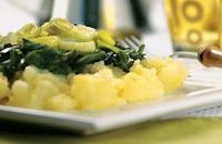 Batata com Espinafre e Alho-Poró