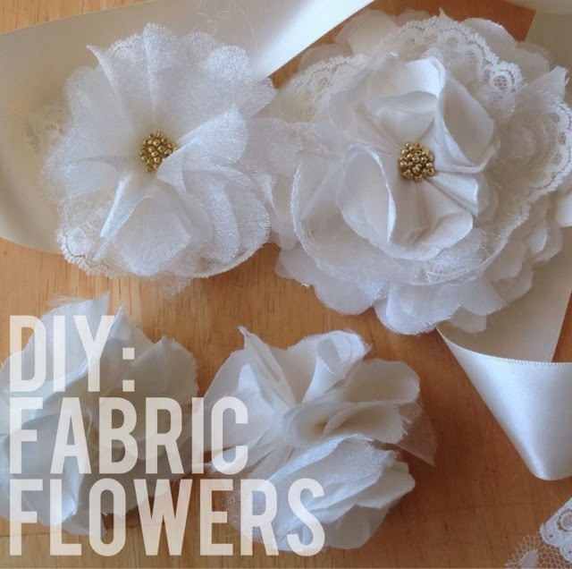 Making Fabric Flowers Wedding: Diy Vintage Fabric And Lace Flower Fascinator