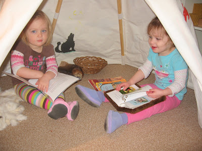 twins in the tipi