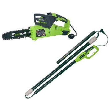 Electric Pole Chainsaw Combo Power Tree Trimmer 8 amp Pruner 10 inch bar Saw