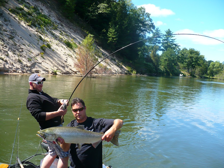 Big Manistee King Salmon Fishing