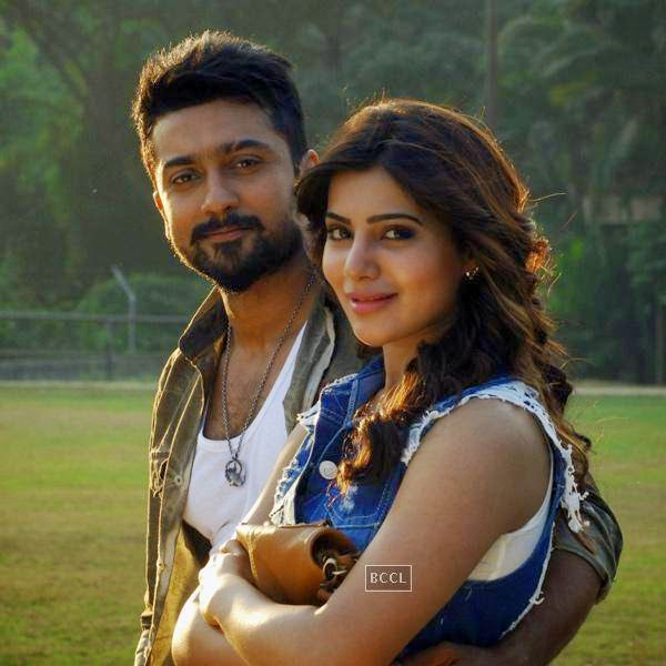 Suriya and Samantha in a still from Telugu movie Sikander. (Pic: Viral Bhayani)