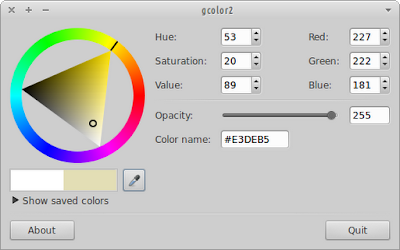 Gcolor2 running on Xubuntu 12.04