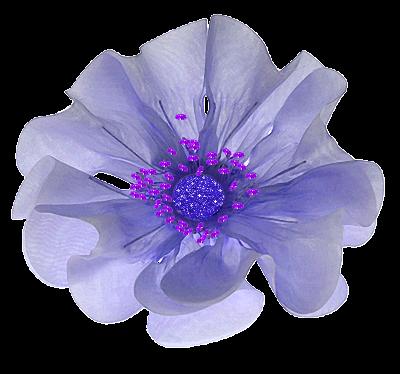 flores de fitas-cor roxa