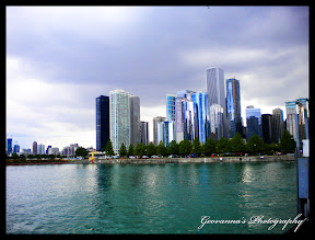Chicago skyline, during a cloudy summer afternoon, Picture taken from deck at Navy Pier. Chicago, Illinois