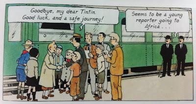 Herge in Tintin