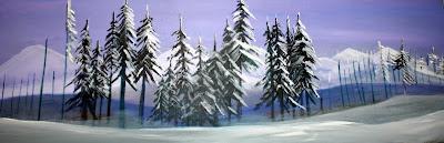 Mixed Media Winter Landscape