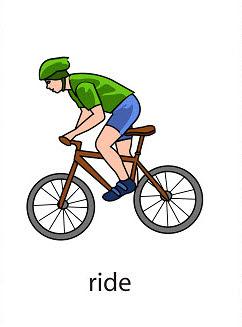 ride%2520 %2520flashcard Verb flashcard