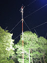 Microwave tower @ night