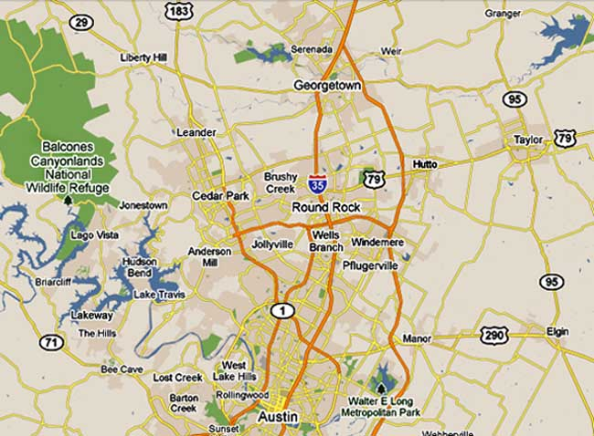 Map Of Hutto Texas