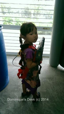 Tiger girl all geared up for laser tag